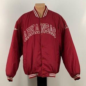 Vintage Reebok Arkansas Razorbacks Bomber Jacket